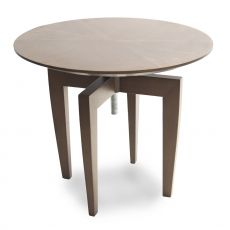 Money Penny - Wooden coffee table Tonon, adjustable in height, with oval top, available in various colours