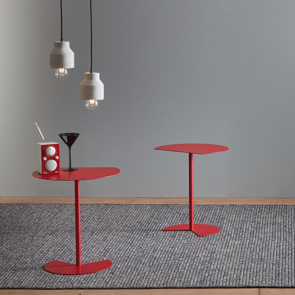 Composition with two design pendant lamps, matching with Way Sofa coffee tables
