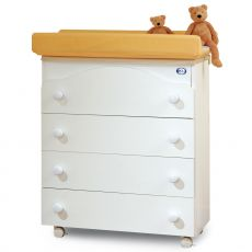 Four - Pali changing table-baby bath, with 4 drawers