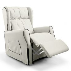 Memory - Electric Relax armchair, goose-down cushion, available with various coverings