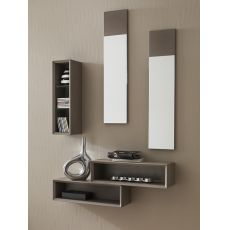 PA603 - Entrance furniture with mirrors and vertical box, available in several colours