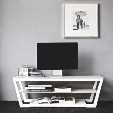 CB5069 Element - Connubia - Calligaris wooden TV holder, glass top 120 x 40 cm