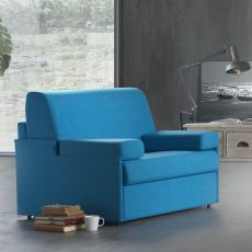 Gelsomino-P - Armchair bed, different upholsteries and colours available