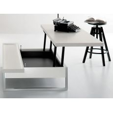 Adone - Transformable coffee table in wood, 120 x 80 cm