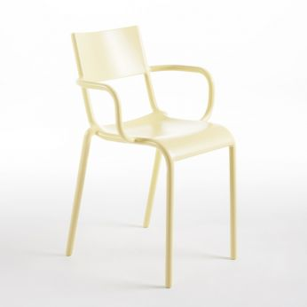 Generic A - Kartell design chair, in yellow colour