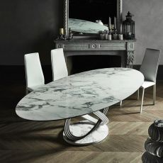 Fusion L - Design table Bontempi Casa, in metal with 250x116 cm top, available in different finishes