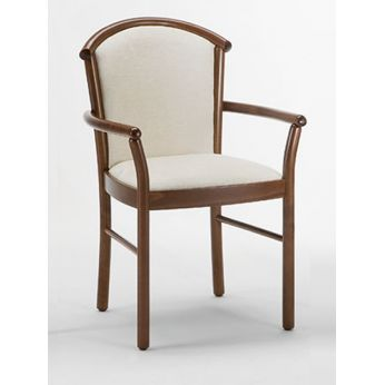 Dolly B - Beech chair, fabric back and seat