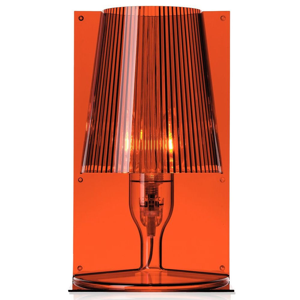 Kartell table lamp, in amber colour