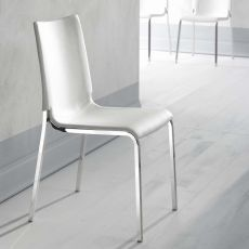 Eva soft - Upholstered chair by Bontempi Casa, in metal, available with different coverings