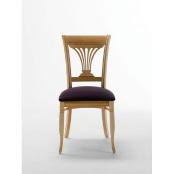 Operetta - Beech wooden chair, violet microfibre seat (only on request)
