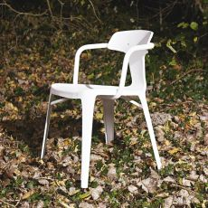 T14 Chair - Tolix design chair, in metal, stackable, also for the garden