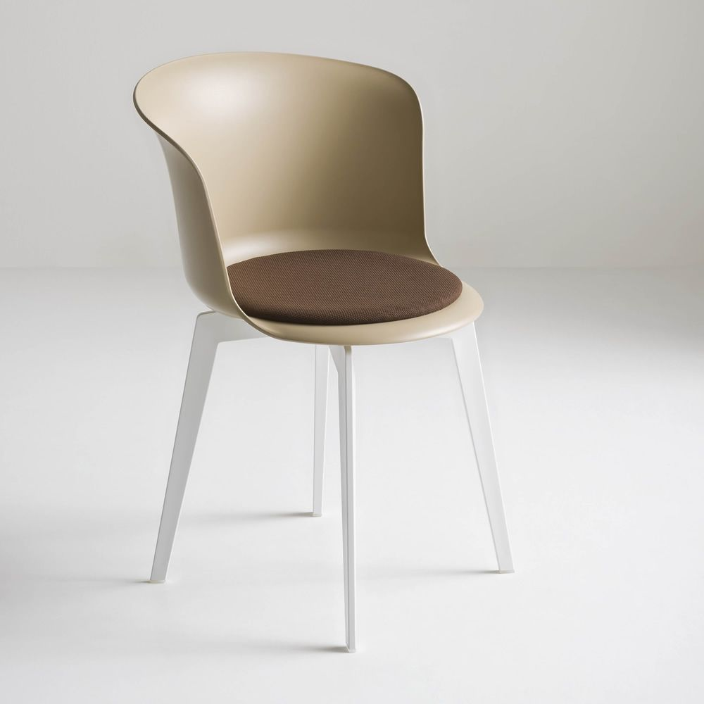 White chair with dove grey seat