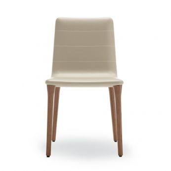 Pit Soft Touch - Modern chair in polyurethane, sand colour