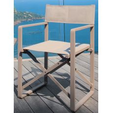 Chic - R - Director chair in aluminium and textilene, folding, several colours, for outdoor