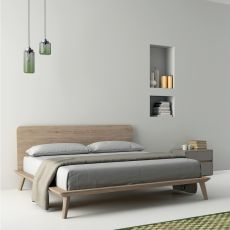 Easy - Dall'Agnese double bed with wooden frame, different sizes and finishes available
