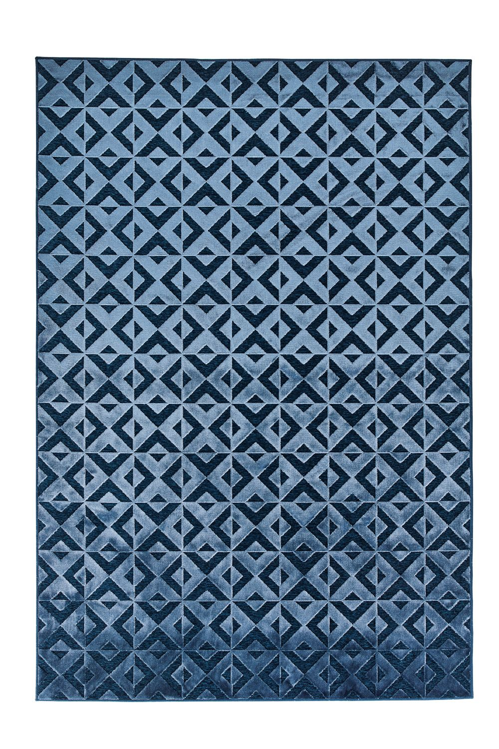 Contemporary rug, blue version