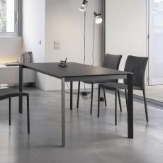 Dublino - Design table Bontempi Casa, in metal with 160 x 90 cm top, extendable, available in several finishes