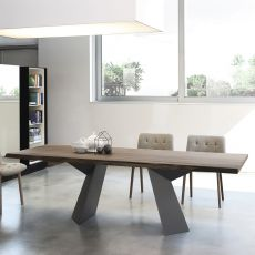 Fiandre - Design table Bontempi Casa, in metal with 200x106cm top, available in several finishes