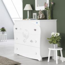 Bonnie C - Chest of drawers Pali in wood, with three drawers