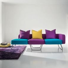 Pills - Design sofa by Adrenalina, in 4 places, different coverings available