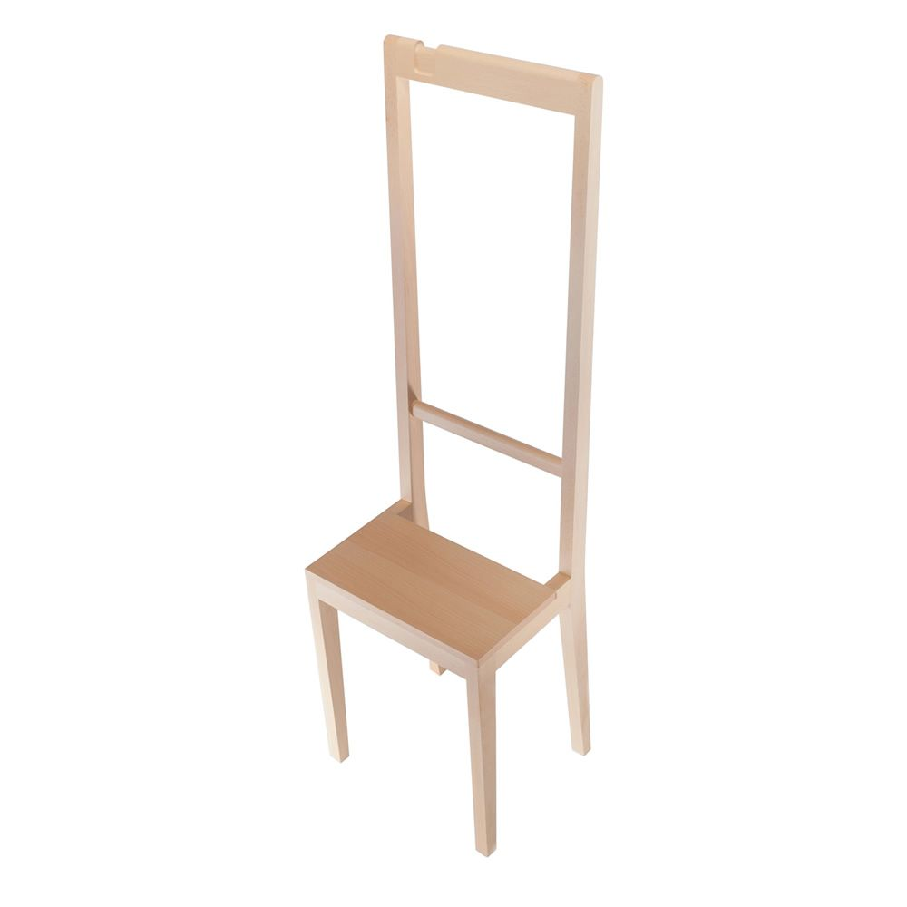 Chair-coat rack in beech wood