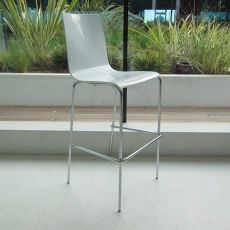 Zip-SG - Midj stool made of metal and HiRek, different colours available, also with decoration, seat height 75 cm