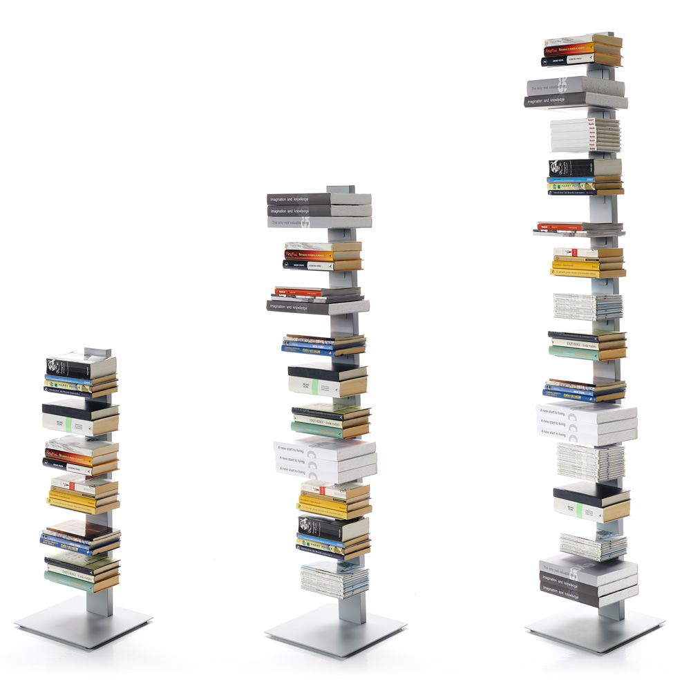 Modern bookcase in metal, available in several sizes
