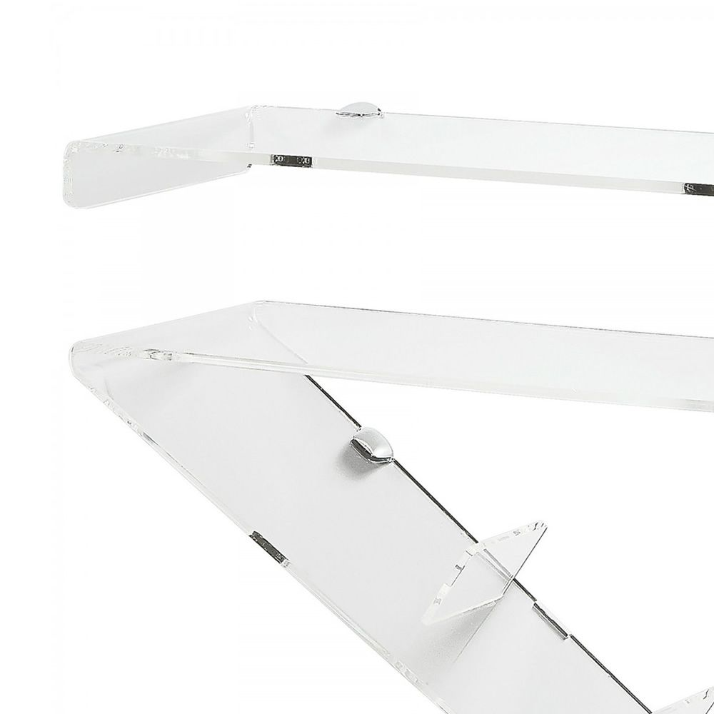 Transparent methacrylate console table, detail
