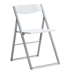 Icon - Domitalia folding metal chair, seat and backrest in polypropylene or multilayer