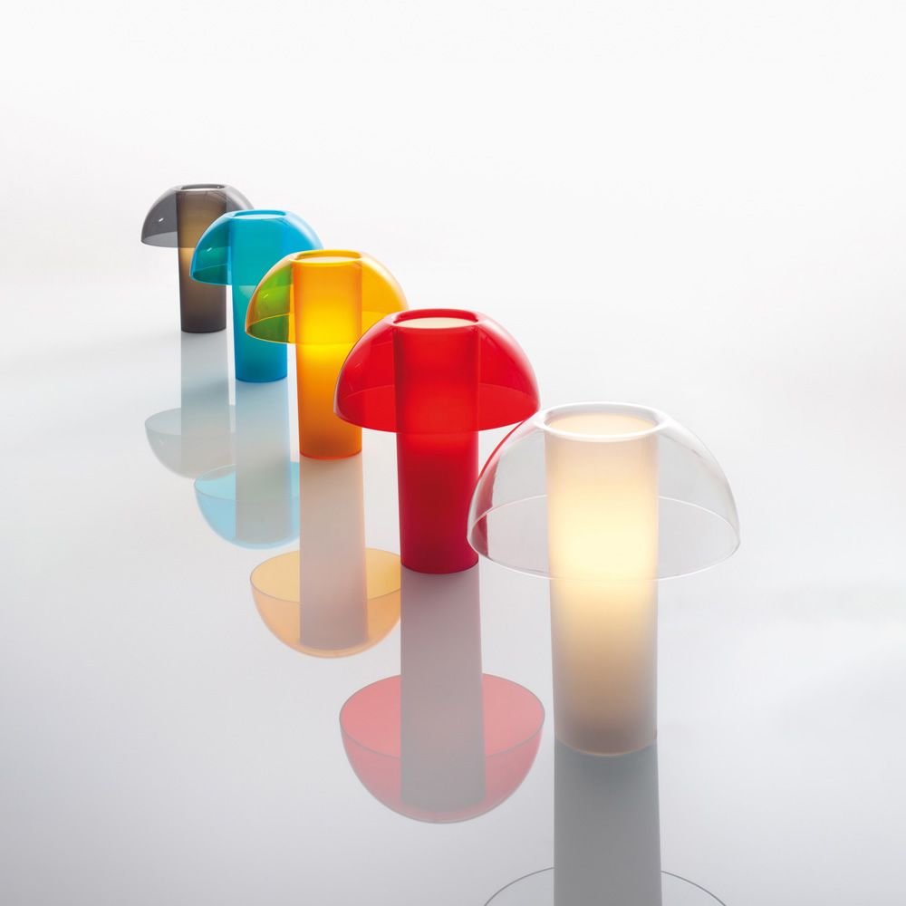 Table lamp, different colours