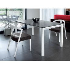 Universe-160 W - Domitalia wooden table, different top available, 160 x 90 cm extendable