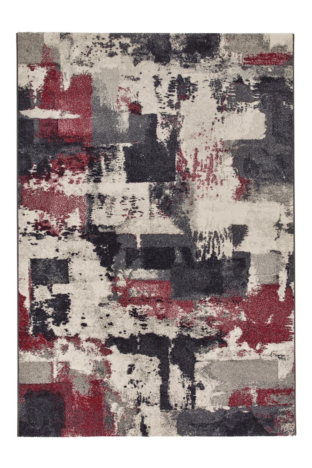 Contemporary rug, red version