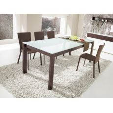 CB4010-LV 130 Baron - Connubia - Calligaris wooden table, glass or ceramic top, 130 x 85 cm extendable