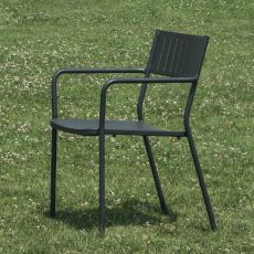 Bridge P - Emu armchair made of metal, stackable, for garden