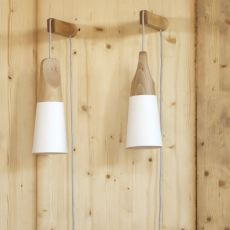 Slope A - Miniforms wall lamp, in wood and metal