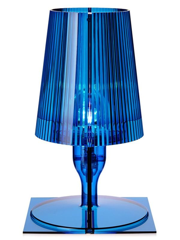 Kartell table lamp, in blue colour
