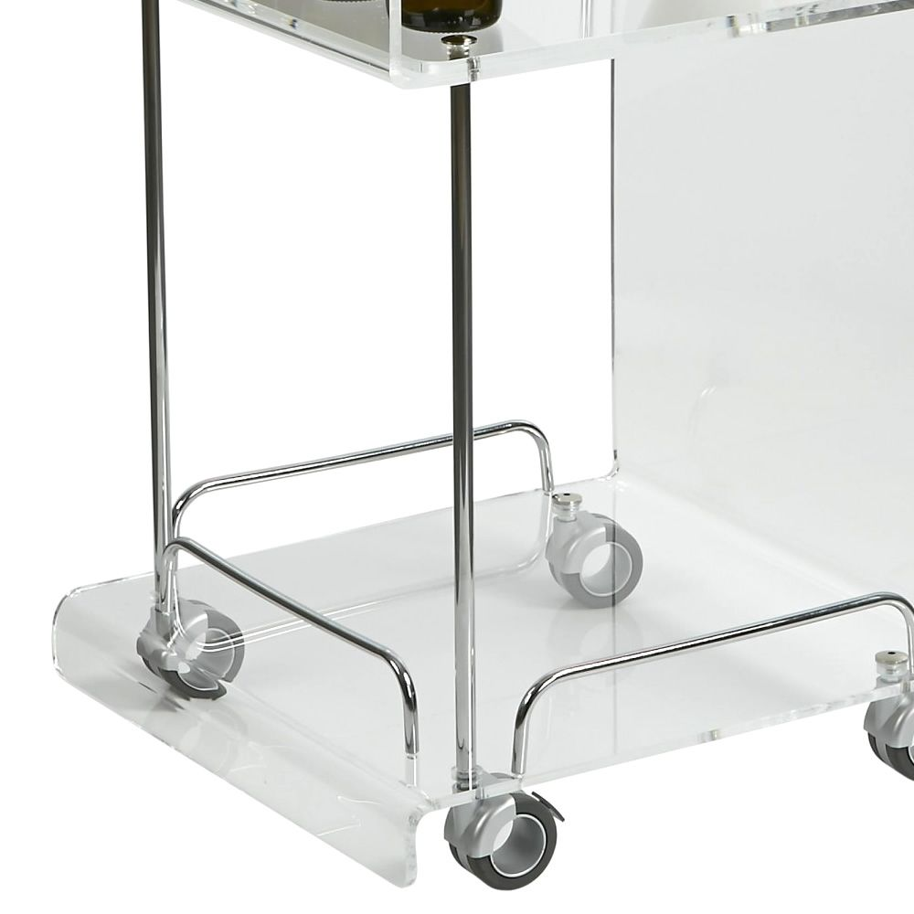 Transparent methacrylate trolley, detail