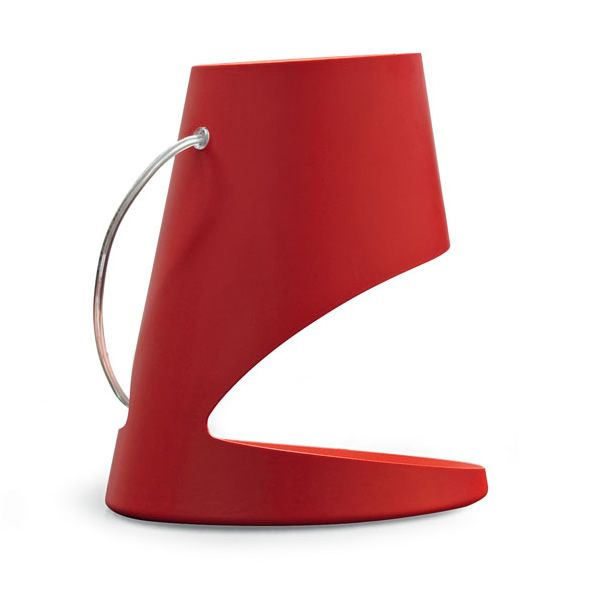 Table lamp by Calligaris, red colour