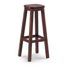 AV309A - Country style wooden stool, in several colours, height 45 cm