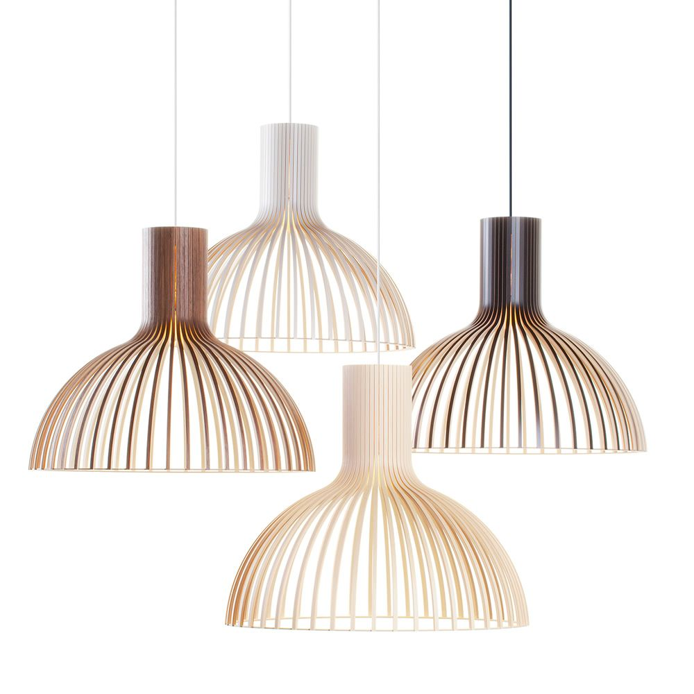 Wooden suspension lamps