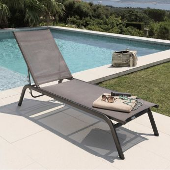 Step - L - Stackable sun loungers, in brown colour