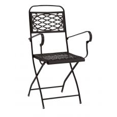 Isa P 2531 - Folding metal armchair, for garden