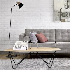 Orb - Ethnicraft metal coffee table, with wooden top