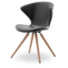 Concept W - Design chair by Tonon, made of wood and polyurethane in several colours