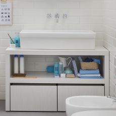 Acqua e Sapone C - Sink cabinet with stools for child, available in several colours