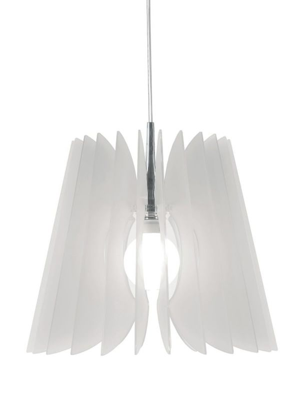 Suspension lamp in satined methacrylate