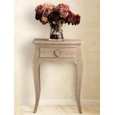 Cirella - Shabby chic multipurpose furniture in wood, 48x34 cm, height 69 cm, with drawer