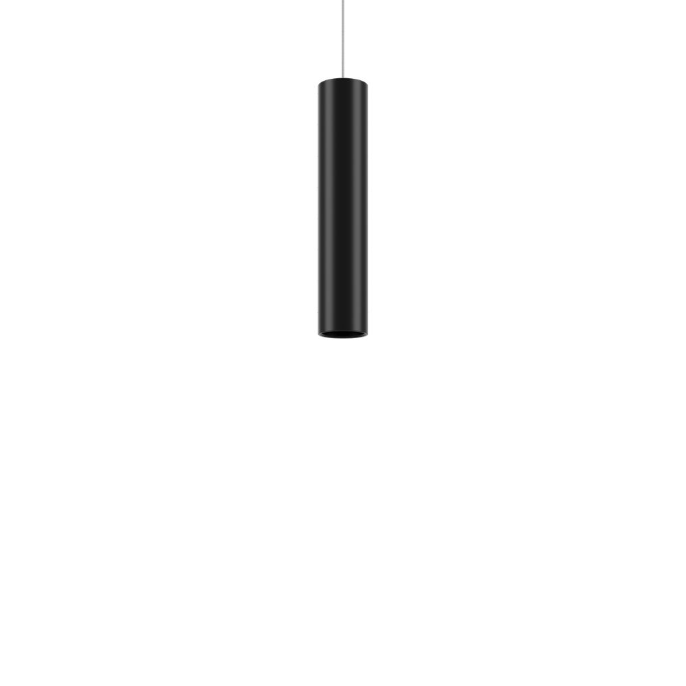Suspension lamp in black painted metal, size S