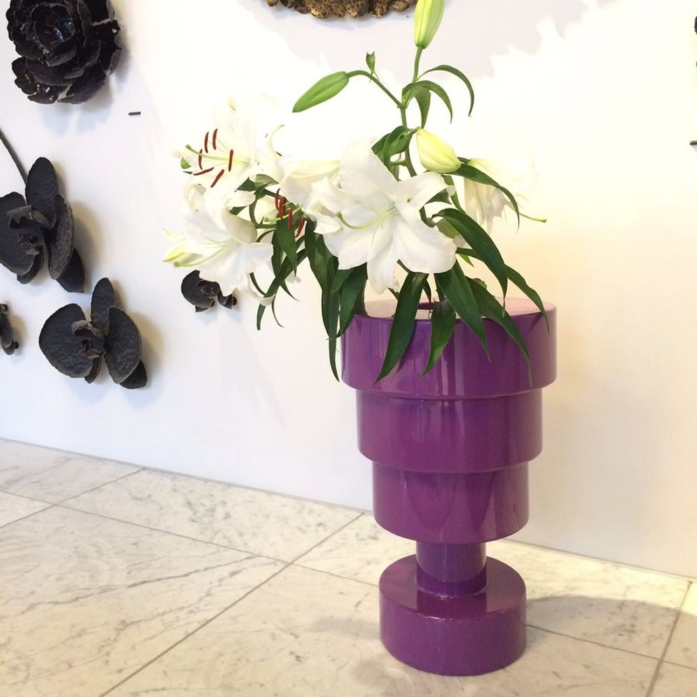 Designer Vase by Ettore Sottass, aus Technopolymer in Violett