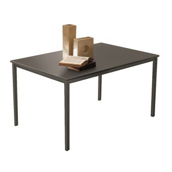 Boston 42.11 - Table in anthracite grey lacquered metal and anthracite grey laminate top